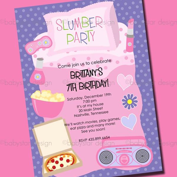 Free Sleepover Invitation Template Awesome Template Sleepover Party Invitation