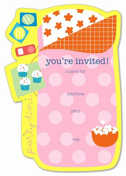Free Sleepover Invitation Template Beautiful Free Printable Slumber Party Invitation Templates