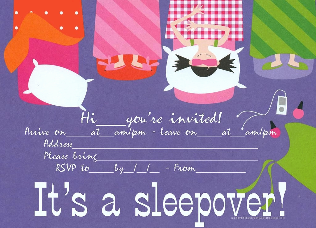 Free Sleepover Invitation Template Best Of Free Slumber Party Invitations to Print