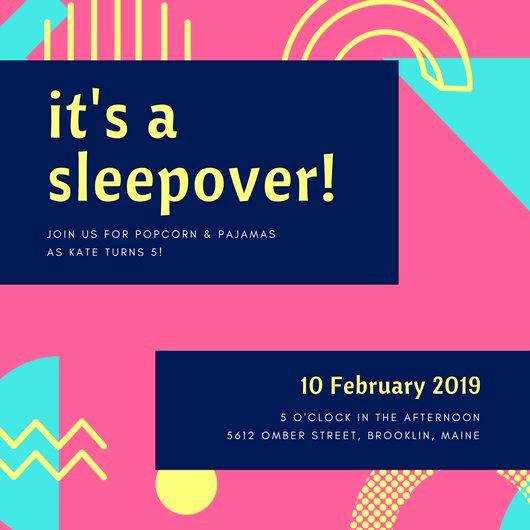 Free Sleepover Invitation Template Elegant Customize 60 Sleepover Invitation Templates Online Canva
