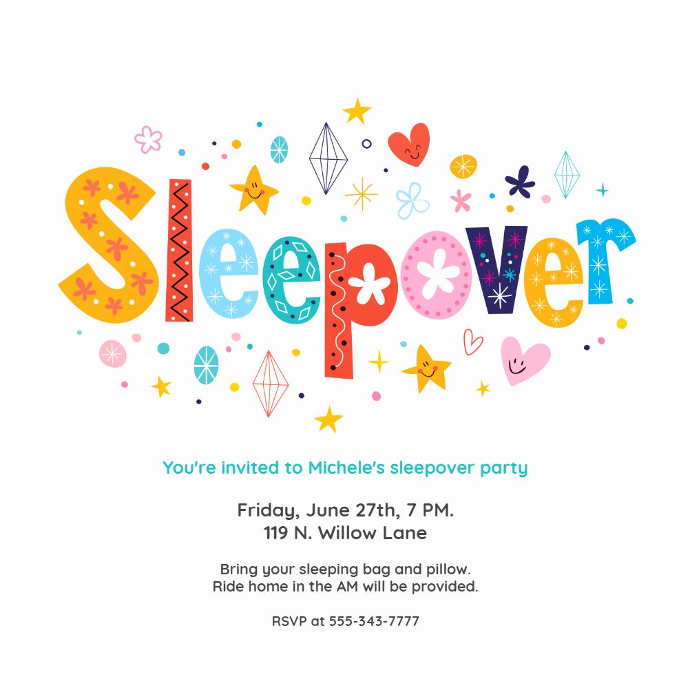 Free Sleepover Invitation Template Elegant Sleepover Sleepover Party Invitation Template Free
