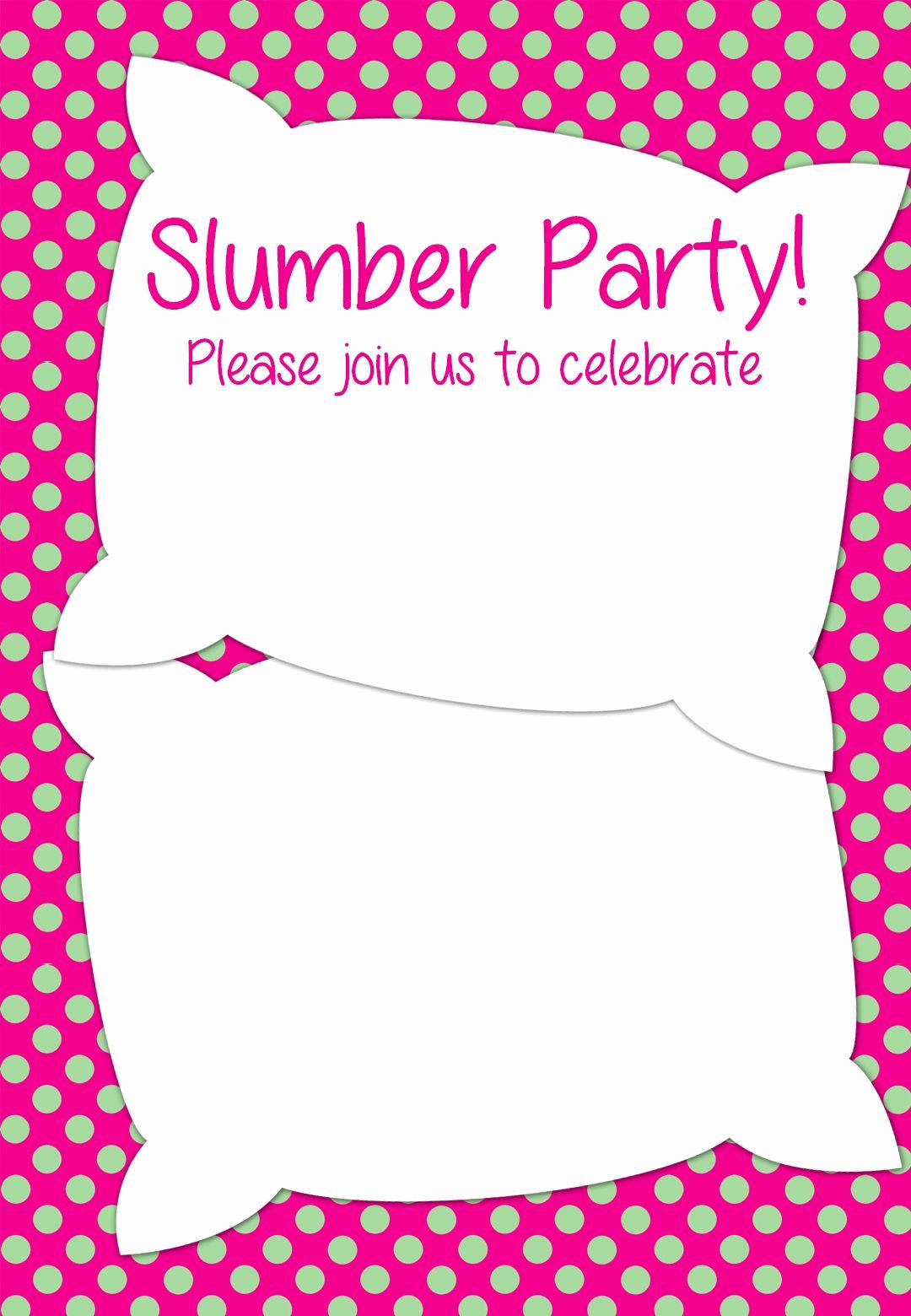 Free Sleepover Invitation Template Inspirational Free Printable Slumber Party Invitation