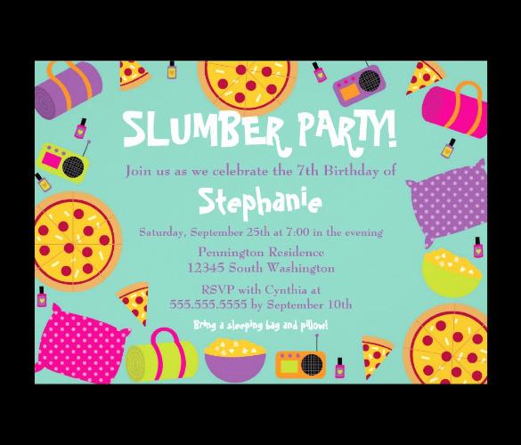 Free Sleepover Invitation Template Lovely 13 Creative Slumber Party Invitation Templates Psd Ai