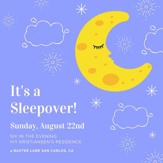 Free Sleepover Invitation Template Luxury Customize 46 Sleepover Invitation Templates Online Canva