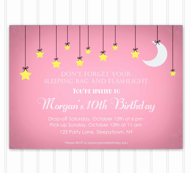 Free Sleepover Invitation Template Luxury Slumber Party Invitation Template