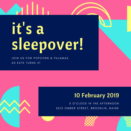 Free Sleepover Invitation Template Unique Sleepover Invitation Templates Canva