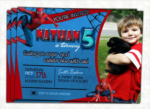 Free Spiderman Invitation Template Beautiful 58 Sample Birthday Invitation Templates Psd Ai Word