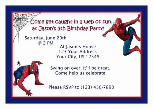 Free Spiderman Invitation Template Beautiful Spiderman Invitations Free Printable