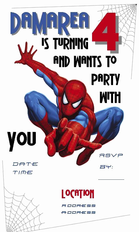 Free Spiderman Invitation Template Best Of Custom Designed Invitations