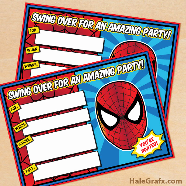Free Spiderman Invitation Template Best Of Free Printable Spider Man Birthday Invitation