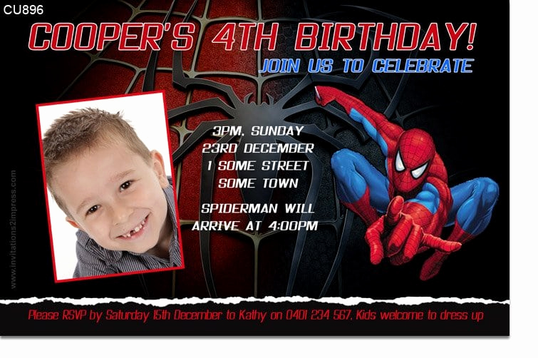 Free Spiderman Invitation Template Elegant Spiderman Invitation Templates
