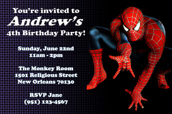 Free Spiderman Invitation Template Inspirational 71 Printable Birthday Invitation Templates Word Psd