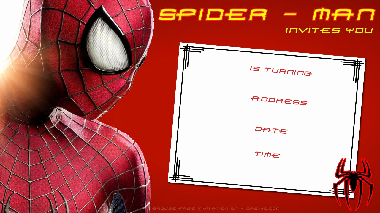 Free Spiderman Invitation Template Inspirational Free Printable Blank Spiderman Birthday