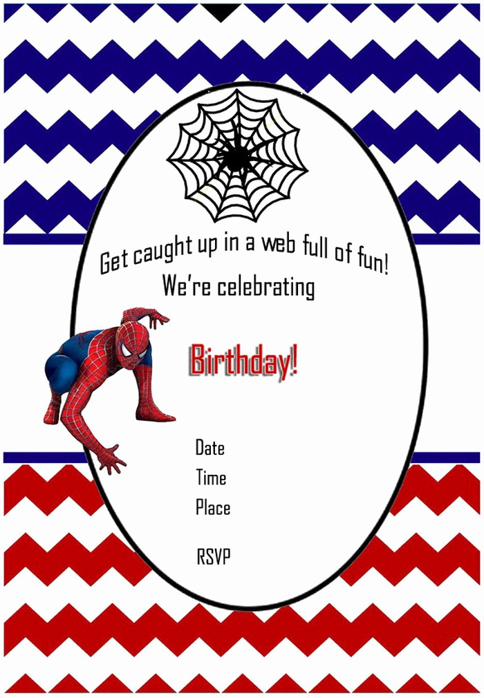 Free Spiderman Invitation Template Inspirational Spiderman Free Printable Invitation Templates