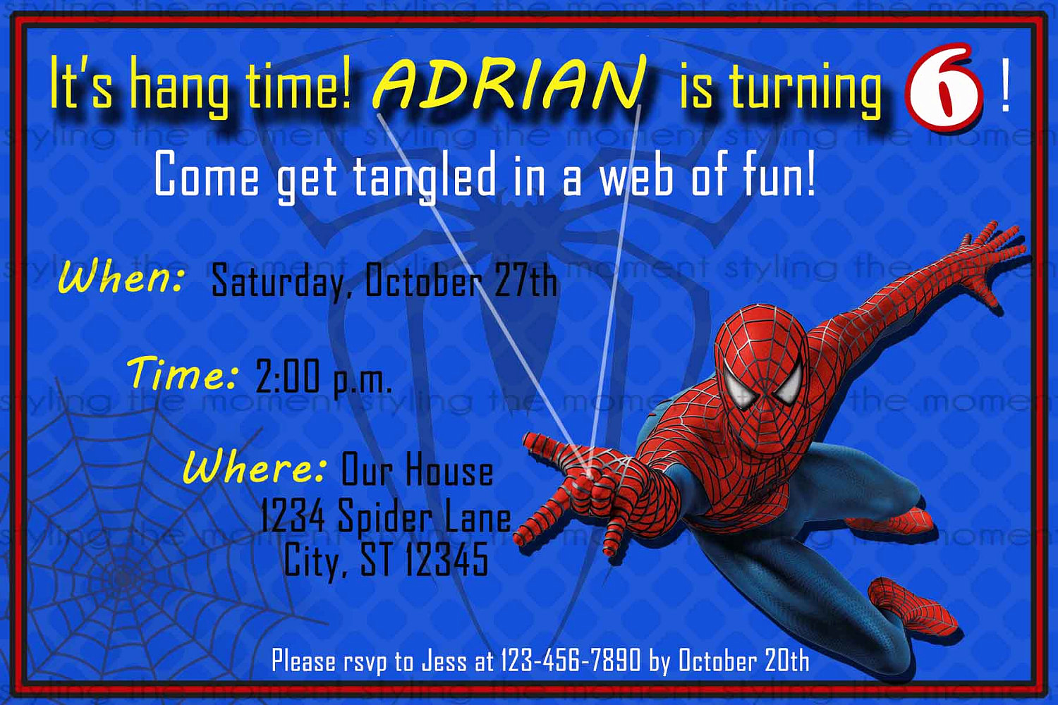 Free Spiderman Invitation Template Inspirational Spiderman Printable Birthday Invitation