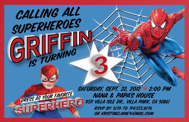 Free Spiderman Invitation Template Inspirational Superhero Birthday Party Invitations – Bagvania Free