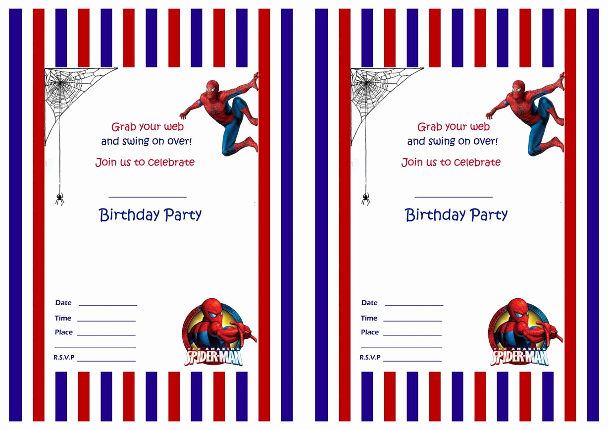 Free Spiderman Invitation Template New Spiderman Birthday Invitations