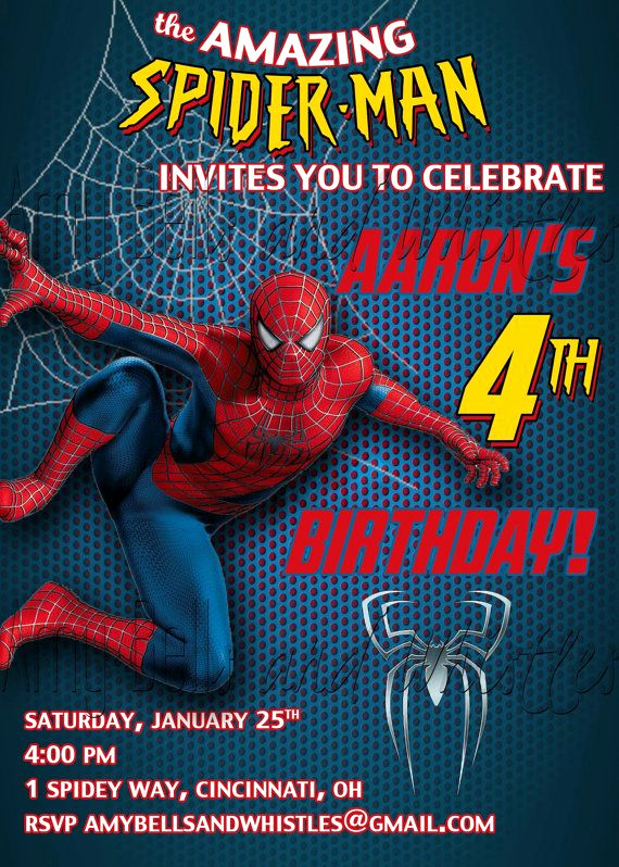 Free Spiderman Invitation Template Unique Spiderman Birthday Invitation Custom Personalized