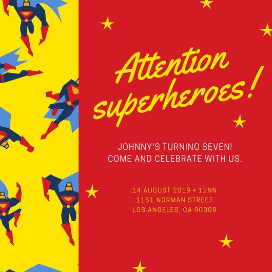 Free Superhero Invitation Template Awesome Customize 111 Superhero Invitation Templates Online Canva