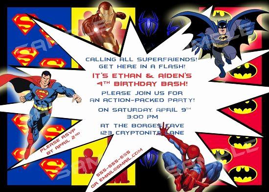 Free Superhero Invitation Template Awesome Download Free Printable Superhero Birthday Invitations