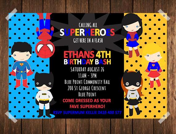 Free Superhero Invitation Template Awesome Superhero Birthday Invitation Superhero Invitation