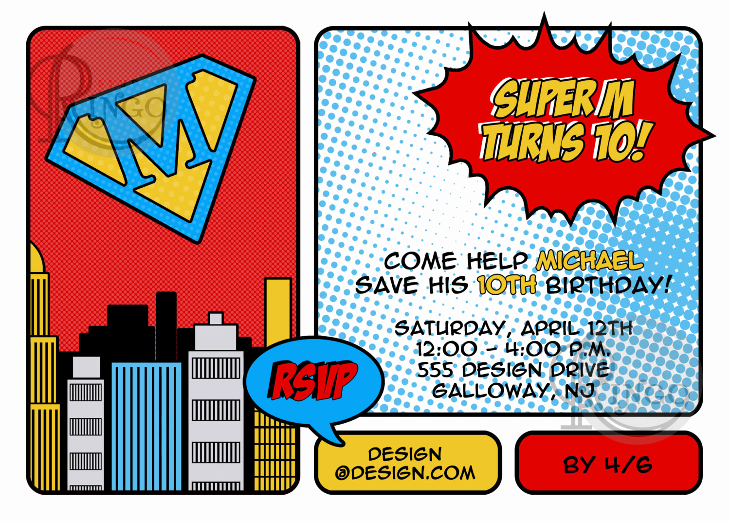 Free Superhero Invitation Template Awesome Superhero Invitation by Studioringo On Etsy