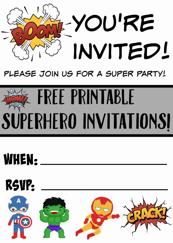 Free Superhero Invitation Template Beautiful Free Printable Superhero Birthday Invitations Not Quite