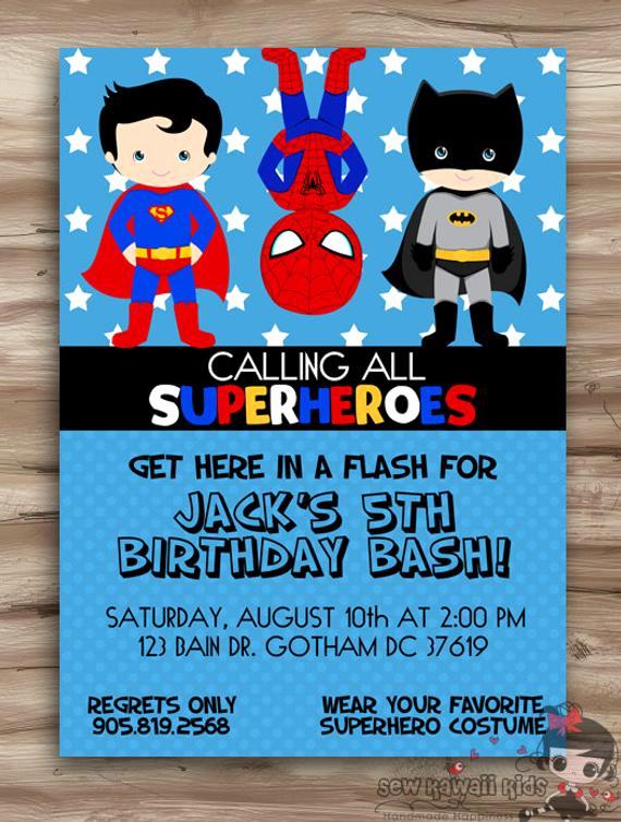 Free Superhero Invitation Template Beautiful Superhero Birthday Invitation Superhero by Kawaiikidsdesign