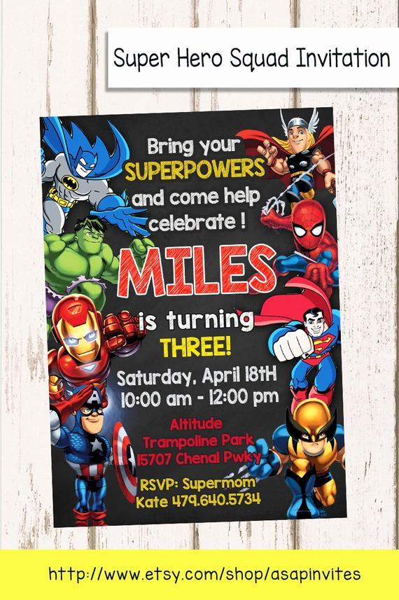 Free Superhero Invitation Template Beautiful Superheroes Superhero Birthday Party Avengers Super Hero