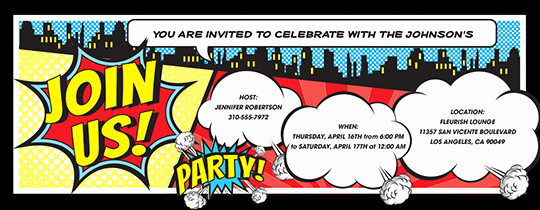 Free Superhero Invitation Template Elegant Invitations Free Ecards and Party Planning Ideas From Evite