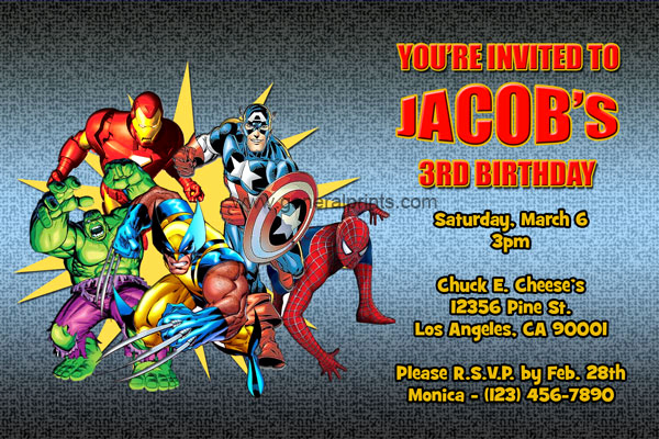 Free Superhero Invitation Template Elegant Marvel Superhero Invitations