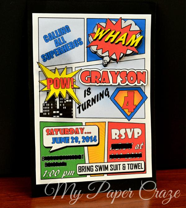 Free Superhero Invitation Template Elegant Superhero Ic Book Party Invitation with Free Printable