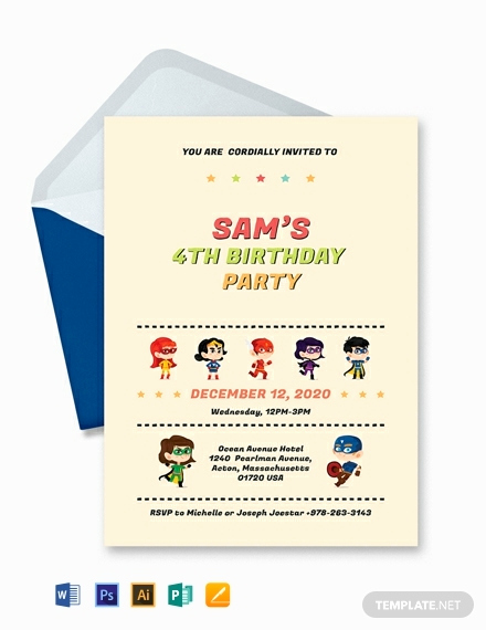 Free Superhero Invitation Template Fresh Free Superhero Birthday Invitation Template Download 820