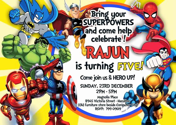 Free Superhero Invitation Template Luxury Superheroes Superhero Birthday Party Avengers Super Hero