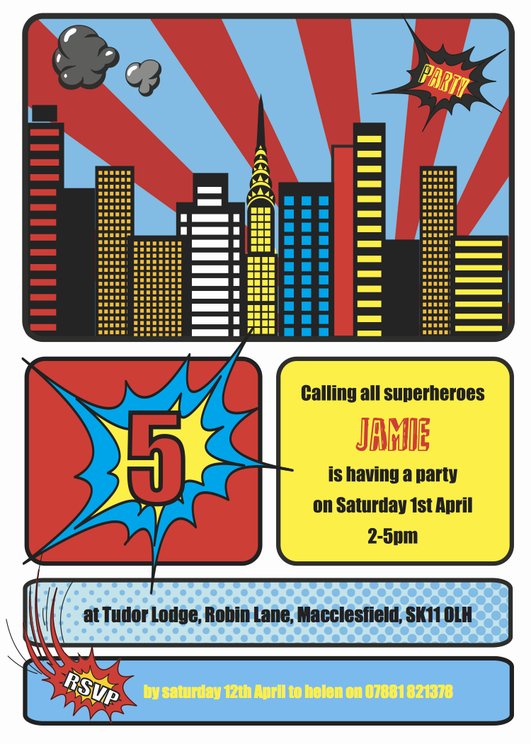 Free Superhero Invitation Templates Awesome Cococards Weekly Party Idea Superhero Party