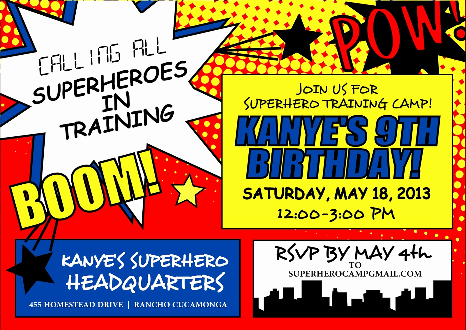 Free Superhero Invitation Templates Awesome Signatures by Sarah Superhero Party Stationery for Amanda