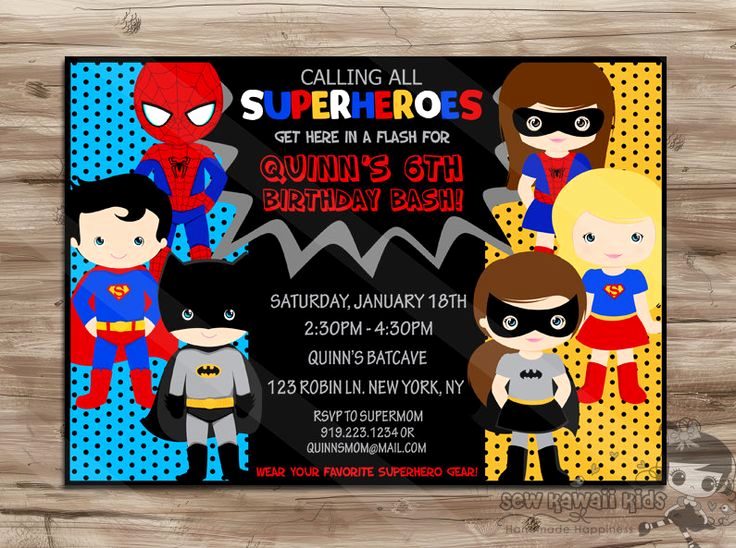 Free Superhero Invitation Templates Awesome Superhero Birthday Invitation Boys and Girls by