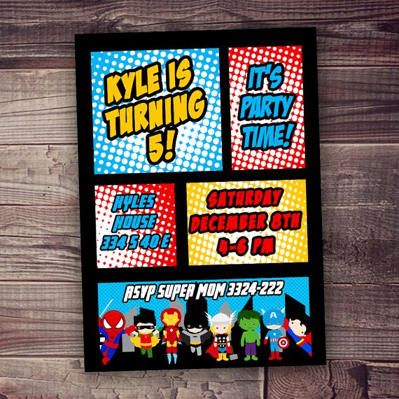 Free Superhero Invitation Templates Beautiful 47 Best Rylan S 3rd Birthday Images On Pinterest