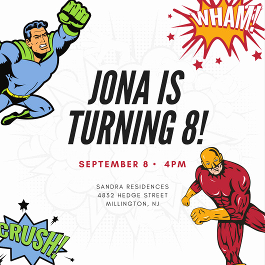 Free Superhero Invitation Templates Beautiful Customize 113 Superhero Invitation Templates Online Canva