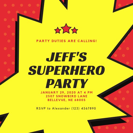 Free Superhero Invitation Templates Fresh Customize 100 Superhero Invitation Templates Online Canva