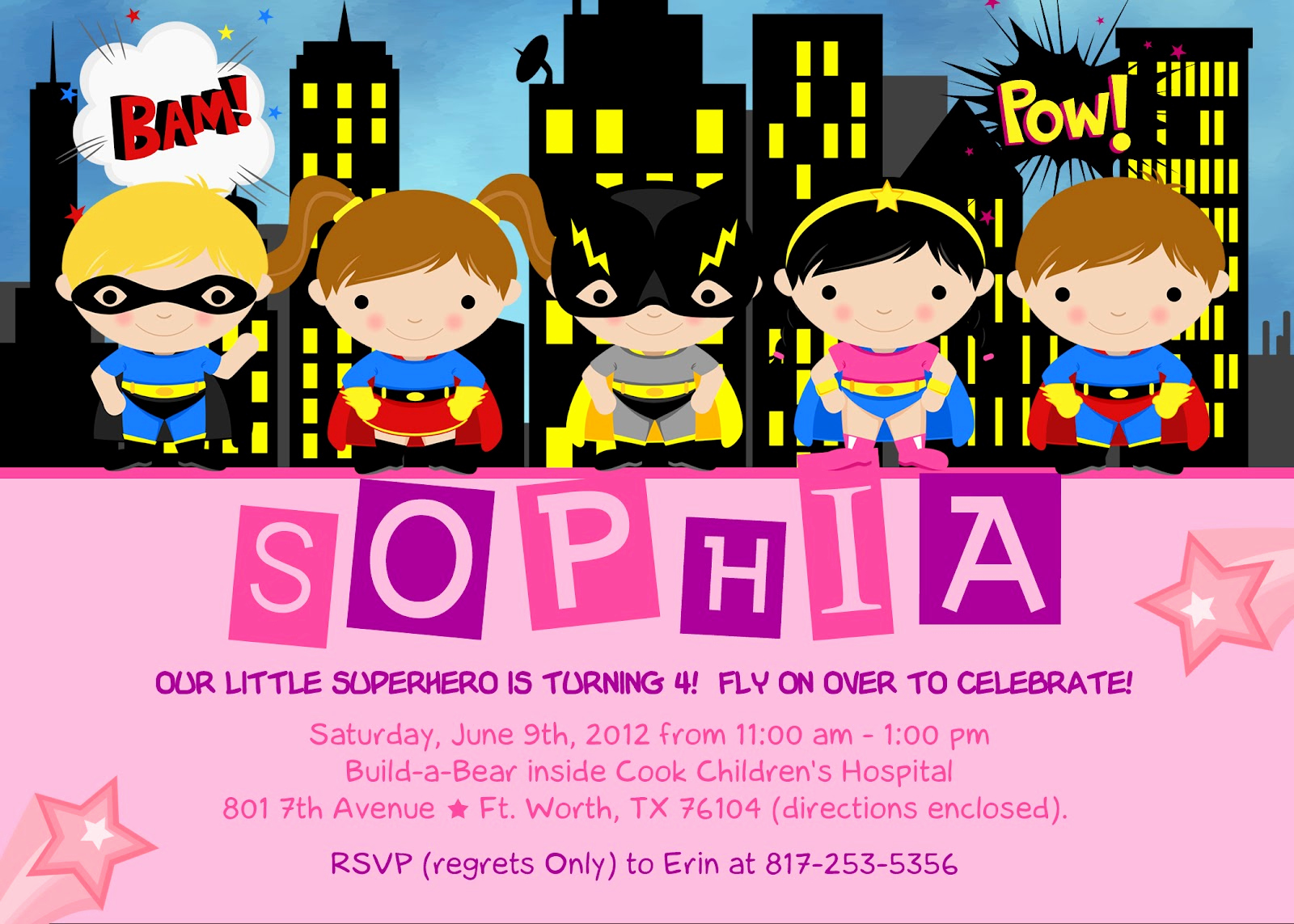 Free Superhero Invitation Templates Fresh the Kaminski Chronicles Happy Birthday Party Super
