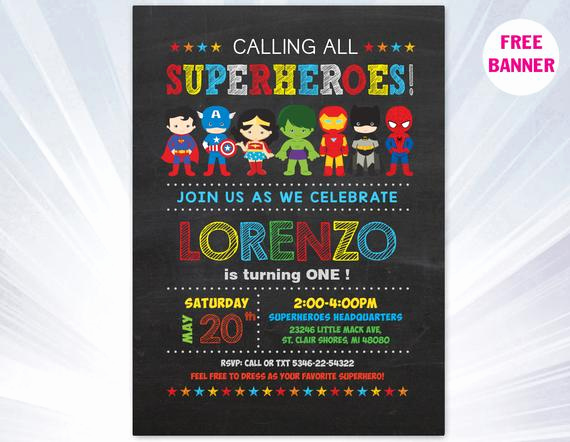 Free Superhero Invitation Templates Luxury Super Hero Invitation Superhero Invitation Templates