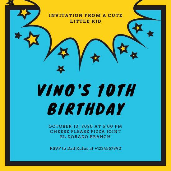 Free Superhero Invitation Templates New Customize 100 Superhero Invitation Templates Online Canva