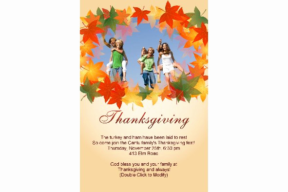 Free Thanksgiving Invitation Templates Awesome Free Photo Templates Thanksgiving Invitation 3