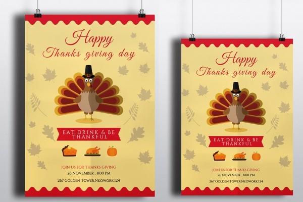 Free Thanksgiving Invitation Templates Beautiful 21 Thanksgiving Invitation Designs Psd Vector Eps Ai