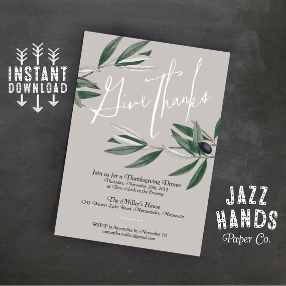 Free Thanksgiving Invitation Templates Beautiful Thanksgiving Invitation Template Diy Printable
