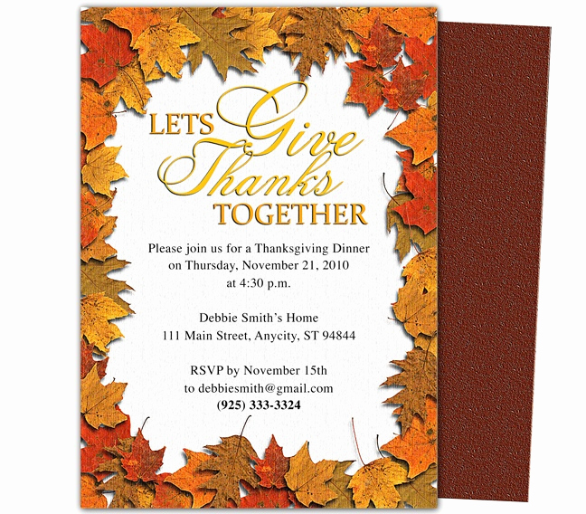 Free Thanksgiving Invitation Templates Elegant 17 Best Images About Thanksgiving Invitations On Pinterest