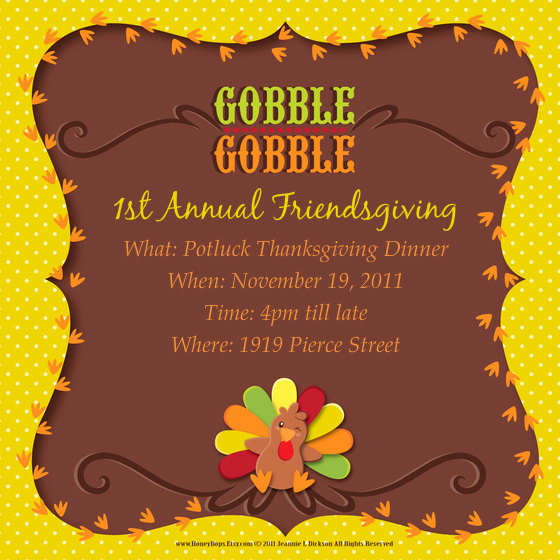 Free Thanksgiving Invitation Templates Fresh 1st Annual Friendsgiving Line Invitations & Cards by