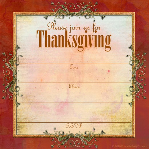 Free Thanksgiving Invitation Templates Fresh Free Printable Thanksgiving Invitations Templates