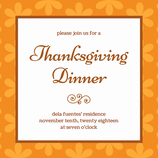 Free Thanksgiving Invitation Templates Inspirational Customize 108 Thanksgiving Invitation Templates Online